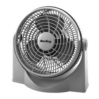 """Air King 9530 9"""" 700 CFM 3-Speed Commercial Grade High Performance Pivoting Fan - Silver"""