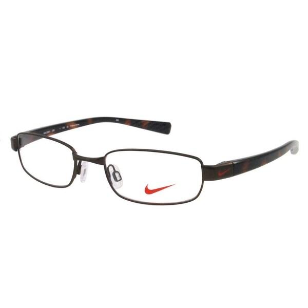 Nike Eyewear 8091-209 Eyeglasses Satin Brown Walnut/ Tortoise Frames ...
