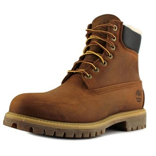 Timberland 6 Inch Fur Lined Men Round Toe Leather Brown Winter Boot