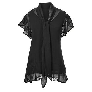 Women's Sheer Tunic Top by April Cornell - Blouse with Button Front and Detachable Cami