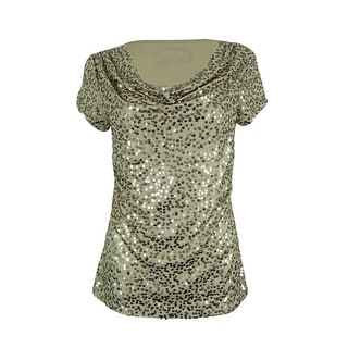INC International Concepts Women's Sequined Top - ps