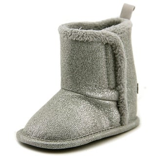 Gerber Sparkle Boot Infant Round Toe Synthetic Gray Bootie