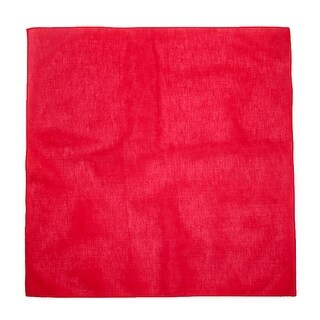 CTM® Cotton All Purpose Solid Bandana (Pack of 12 of Same Color) - One Size