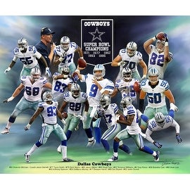 ''Dallas Cowboys'' by Wishum Gregory Celebrities Art Print (20 x 24 in.)