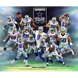 ''Dallas Cowboys'' by Wishum Gregory Celebrities Art Print (20 x 24 in.)