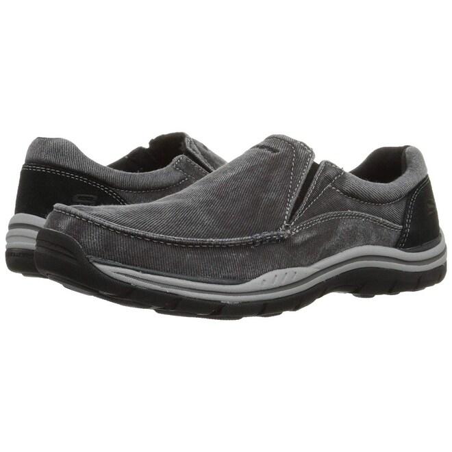 Skechers Usa Men's Expected Avillo Relaxed Fit Slip On Loafer,Black,8 M Us