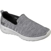 Skechers Women's GOwalk Joy Enchant Slip-On Walking Shoe Black/Gray