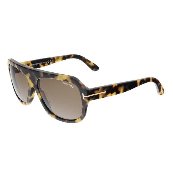 Tom Ford FT0465 56J OMAR Tortoise Aviator Sunglasses - 59-14-145