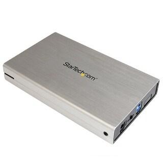 StarTech S3510SMU33S StarTech.com 3.5-Inch USB 3.0 External SATA III SSD/HDD Hard Drive Enclosure with UASP - Silver Aluminum