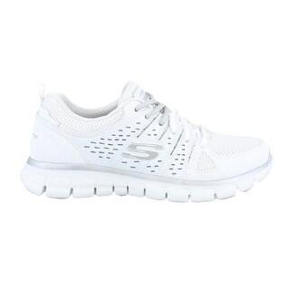Skechers Sport Synergy Look Book Women's Sneaker White-Silver