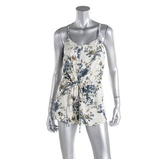 Denim & Supply Ralph Lauren Womens Adjustable Straps Floral Print Romper