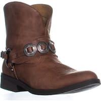 Denim & Supply Afton Block Heel Cowboy Boots, Tan - 8.5 us / 39.5 eu