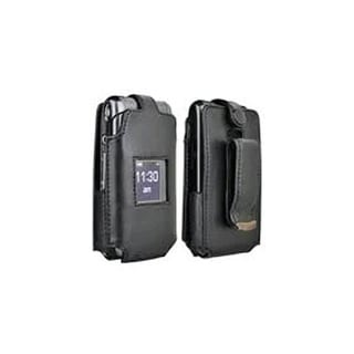 Verizon Leather Clip Case for Samsung Haven U320 - Black