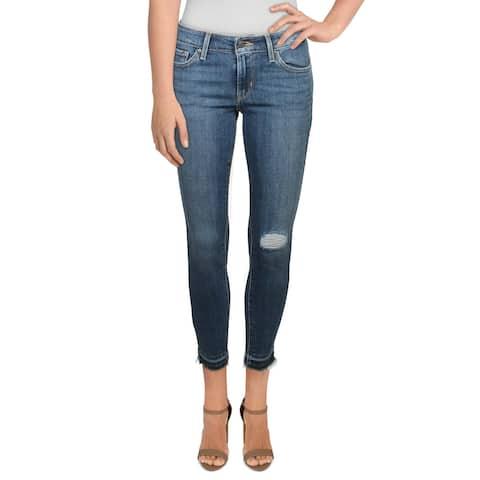 Levi's Womens 711 Ankle Jeans Denim Skinny - Blue