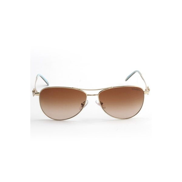 2bef6cb682e9 Shop Tiffany Tiffany Aviator Sunglasses In Pale Gold And Brown Gradient - Pale  Gold - One Size - Free Shipping Today - Overstock - 26301122