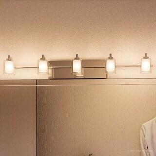 "Luxury Modern Bathroom Vanity Light, 6""H x 42""W, with Posh Style, Polished Chrome Finish"