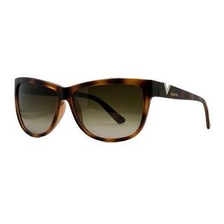 Valentino V 614S 215 Dark Havana Classic Rectangle Sunglasses