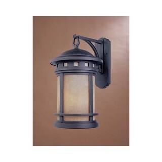 """Designers Fountain 2371-AM-ORB 1 Light 7"""" Cast Aluminum Wall Lantern from the Sedona Collection"""