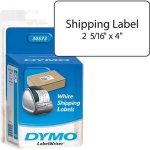 """Dymo 30573 Compatible Small Shipping Labels White w/ 2-1/8"""" W x 4"""" H"""
