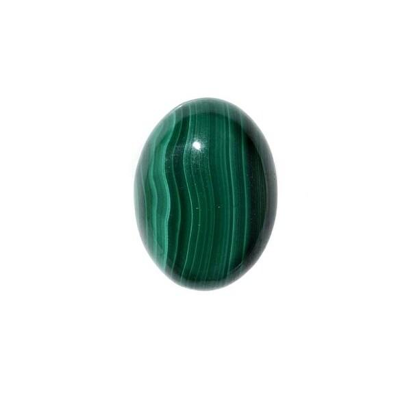 Malachite Gemstone Oval Flat-Back Cabochons 18x13mm (1 Piece)