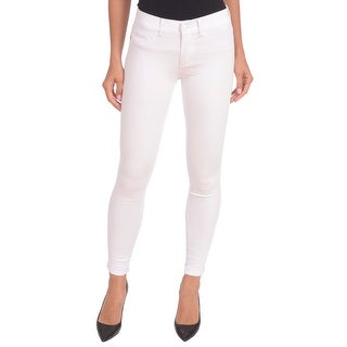 Lola Jeans Camille-WHT, Mid Rise Ankle With 4-Way Stretch