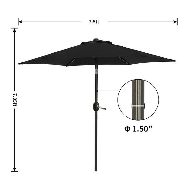 Bonosuki 7.5ft Patio Umbrella Waterproof Sunshade Canopy