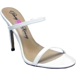 Penny Loves Kenny Women's Derby Stiletto Slide White Patent Polyurethane