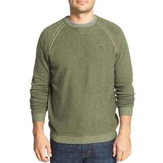 Tommy Bahama Barbados Crew Sweater Large Dark Aspen Green Pullover - L