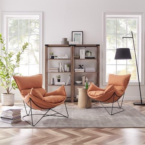Art Leon Modern Accent Chaise Chair