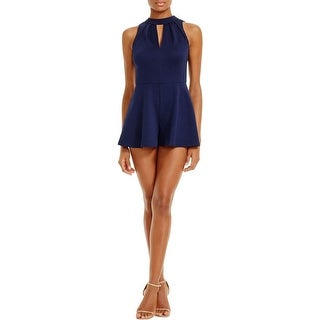 Aqua Womens Romper Halter Sleeveless