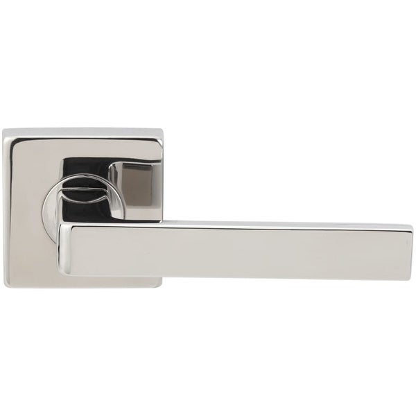 "INOX SE345L461 Tokyo Passage Door Lever Set with 2-3/8"" Backset, SE Series Square Rose, and TL4 28 Degree Latch"