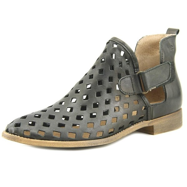 Musse & Cloud Caila Women Peep-Toe Leather Black Bootie
