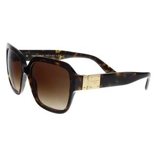 Dolce & Gabbana DG4336 502/13 Dark Havana Square Sunglasses - no size