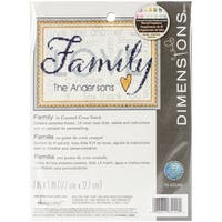 "Family Mini Counted Cross Stitch Kit-7""X5"" 14 Count"