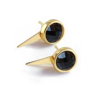 Link to Sonia Hou Fire 3-Way Convertible 24K Gold Gemstone Earring Jackets Similar Items in Earrings