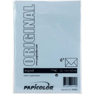 Light Blue - Papicolor A6 Envelopes 6/Pkg
