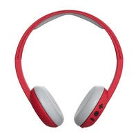 Skullcandy Uproar Bluetooth Wireless On-Ear Headphones with Built-In Mic and Remote, Ill Famed Red
