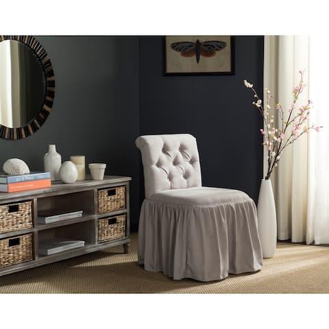 """SAFAVIEH Allie Taupe Linen Vanity Chair - 19.7"""" x 23.6"""" x 31.9"""""""