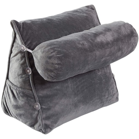 """Cheer Collection TV Reading and Wedge Pillow with Detachable Bolster - 16"""" x 9"""" x 18"""""""