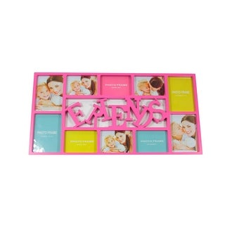 """28.75"""" Pink Dual-Sized """"Friends"""" Photo Picture Frame Collage Wall Decoration"""