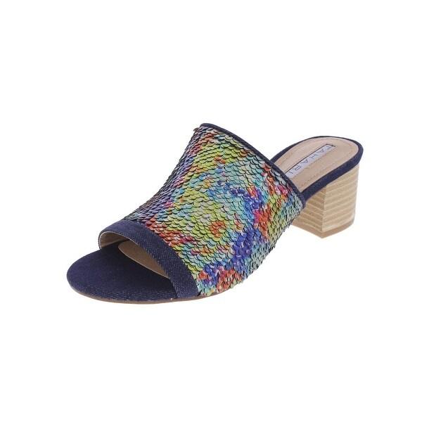 Tahari Womens Daisie Slide Sandals Dress Block Heel