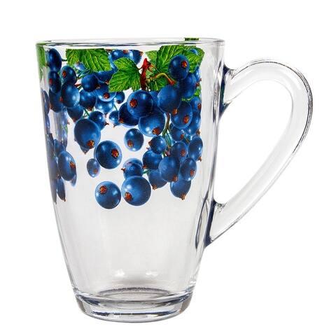 STP-Goods Blackcurrants Glass Tea Coffee Large Mug