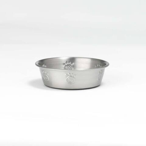 PetRageous Designs 60046 Cayman Classic Stainless Steel Non-Skid Bowl, 1-Cup