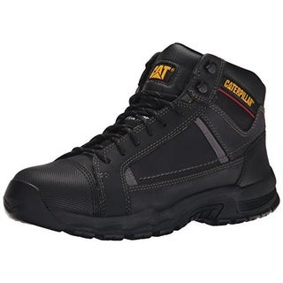 Caterpillar Mens Work Boots Leather Steel Toe - 10 wide (e)