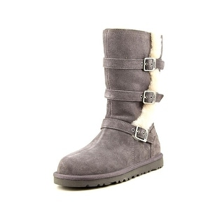 Ugg Australia Maddi Youth Round Toe Suede Gray Winter Boot