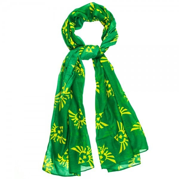 Legend of Zelda Triforce Logo Yellow/ Green Viscose Scarf