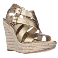 MICHAEL Michael Kors Jocelyn Wedge Espadrille Sandals, Pale Gold