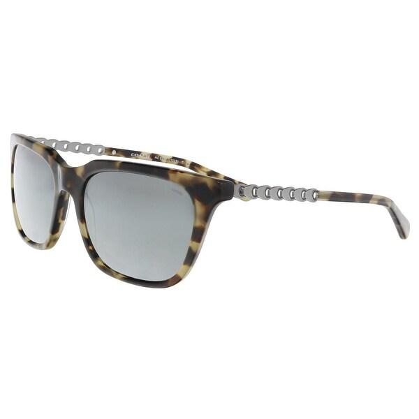 2b36fcd1b581d Shop Coach HC8236 55186G Grey Green Rectangle Sunglasses - 56-19-140 ...