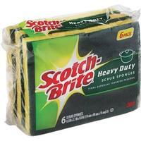 3M 6Pk Hvy Dty Scrub Sponge