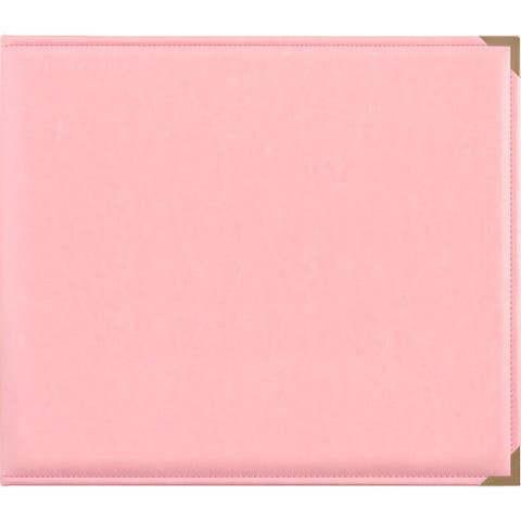 "Kaisercraft Leather D-Ring Album 12""X12""-Pink - Pink"